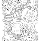 Animals in jungle coloring page | Download Free Animals in jungle coloring page for kids