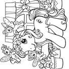 Coloriage Petit poney devant la maison - Mon Petit Poney