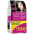 L'Oreal Paris Casting Creme Gloss Hair Color, 400 Dark Brown, 87.5g+72ml Rs.80 off