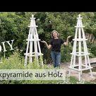 DIY: RANKHILFE selber bauen | RANKPYRAMIDE aus Holz | für Kletterrosen | Gartendeko | DekoideenReich