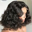 Frontal 13x4 lace loose wave hair wigs prelucked hair human hair wig 13x6 lace front women wig glueless baby hair bleached knots for women