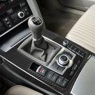 Real Carbon Fiber Auto Gear Panel Decorative Frame Sticker For Audi A6 S6 C6 2005 2011 Car Interior Accessories