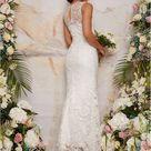 Chi Chi London Sleeveless Premium Lace Wedding Dress   White