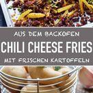 Chili Cheese Fries mit frischen Kartoffeln   emmikochteinfach