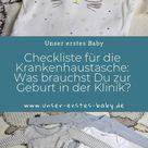 Kliniktasche packen - Was gehört in die Tasche? (Kliniktasche Checkliste)