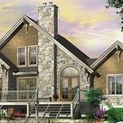 Contemporary Lake Cottage Three Bedroom Craftsman House Plan