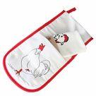 Oven Glove & Tea Towel Set - Chicken