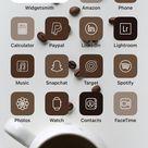 Coffee Neutral Iphone Ios 14 App Icons Aesthetic App Icons   Etsy