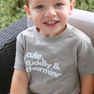 *LIMITED EDITION* Cute, Cuddly & Charming - Short Sleeve Tee - 5t / Heather Stone