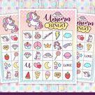 Unicorn Bingo Game instant download Printable Unicorn 30 | Etsy