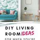DIY Living Room Ideas For Little Spaces