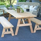 Outdoor Picnic Table Sets: Benches without Backs