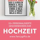 41 personalisierte Geschenke zur Hochzeit   fancy gifts