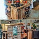 DIY Pallet Kitchen Island Table - Pallet Diy