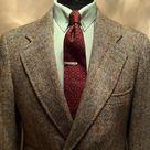 Single breasted Tweed Sportcoat with novelty Foulard tie & collar pin. A great way to express elegance.   #fall #trend #english #gatsby #menswear #tweed #custom #dapper #preppy