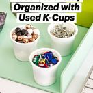 6 Creative Ways to Decorate & Stay Organized with Used K-Cups