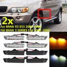 2Pcs LED Front Side Marker Light Indicator Side Repeater Turn Signal Lights For BMW 3 SERIES E36 saloon convertible compact touring facelifted LCI 19