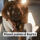 Hand-painted Kurta