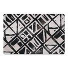 Fields & Flowers Black Grid Pattern Floor Mat, 6006-E