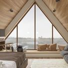 Bedroom with Triangle Window - Inside the House CZ Downstairs by Ruda Studio