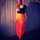 Orange Maxi Skirts