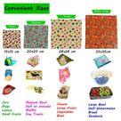 Bees Wax Wraps, 4 Extra Large 33x35 cm, Random Colours, BEE Zero Waste, UK HANDMADE, Organic cotton,