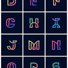 Download free vector of Colorful retro alphabets vector set 543527