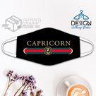 Birthday Gifts Capricorn Astrological Sign Zodiac Vintage Logo Cloth Face Mask December January Birthdays Facemask
