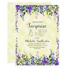 Watercolor Lavender Yellow Surprise 75th Birthday Invitation