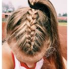 athletic hairstyles for sports volleyball ponytail