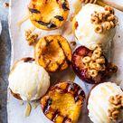 Cinnamon Grilled Peaches with Mascarpone Ice Cream.   Half Baked Harvest