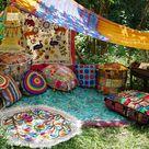 Boho Deko SET - Kreiere deine Hippie chice boho Ecke mit uns - Sitzkissen - Indien Deko - Hippie Kissen bunt