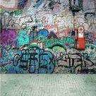 Graffiti Brick Wall Art Photography Backdrop F-2435 - 6.5'W*10'H(2*3m)
