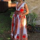 Elegant Dashiki Maxi Dress,  African Print Maxi Dress (Please Read Full Description)