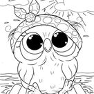 Free & Easy To Print Owl Coloring Pages