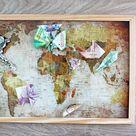 Mit diesen coolen Weltkarten als Geldgeschenk ist die nächste Reise schon fast in Sicht!