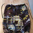 100% silk lined hair wrap sleeping buff, gaiter, loc soc, curly girl method hair protection with ties