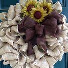 Sunflower Burlap Wreaths