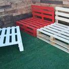 Sofas de palets de madera - Sillones de palets para Terraza Jardin Patio
