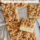 Apfelkuchen vom Blech - mit Pudding und knusprigen Streusel - Home and Herbs