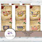 Printable Junk Journal Kit  Journal Cards  Vintage  Teacups | Etsy