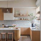 Modern Mid Century Chandelier, Kitchen Wood Pendant Light, Contemporary Industrial Interior Lamp Art