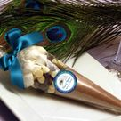 Peacock Wedding Favors