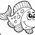 Fish coloring page printable game
