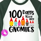 100 days with my gnomies svg clip art, Gnomes svg, Teacher shirt, 100th day of school shirt cut file