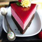 Brownie-Torte mit Himbeersahne und Himbeerspiegel - Zungenzirkus