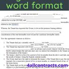 rent agreement word format