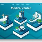 Template Website Isometric Landing Page Concept