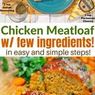 Easy ground chicken meatloaf with just few ingredients!