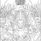 Psychedelic coloring pages